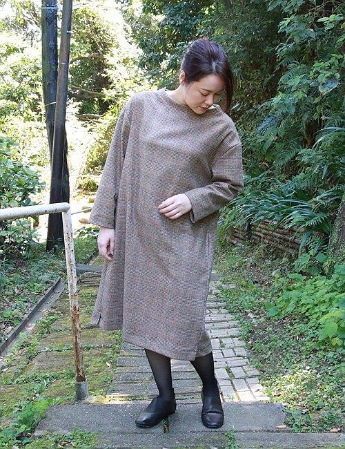 格紋羊毛連衣裙