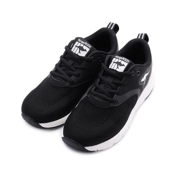 KANGAROOS RUN SPRINT 飛織運動鞋 黑白 KW11010 女鞋