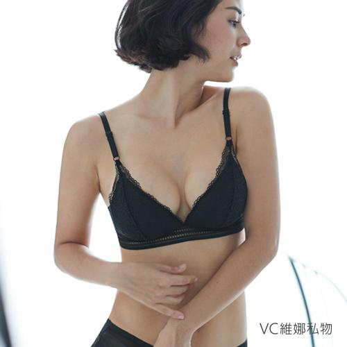 無鋼圈內衣Lissome蕾絲側托款bralette-黑色VC維娜私物36003