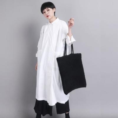 設計所在Style-風衣外套寬鬆過膝中長版素色文藝外搭