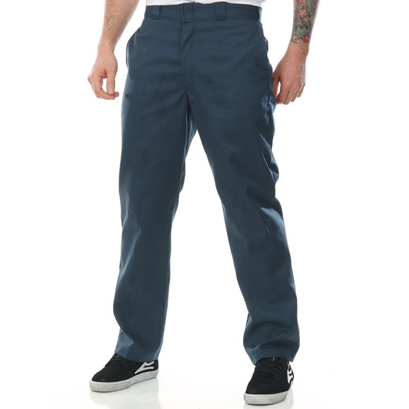 【DICKIES】WP873 低腰經典小直筒斜紋布 工作長褲 (AF灰藍)
