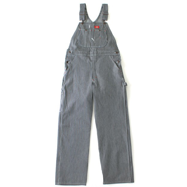 【DICKIES】83297 HS 核桃紋 吊帶褲 (藍白條紋)