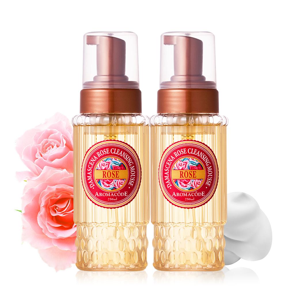 【每人每日限購6組】大馬士革玫瑰氨基酸淨白洗卸二用慕絲250mlX2入(買一送一)