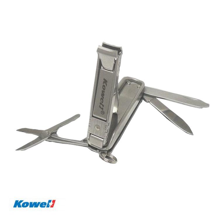 Kowell 不鏽鋼萬用刀超薄指甲剪 MC-2000(紙卡裝) / 城市綠洲 (指甲剪、鑰匙圈)