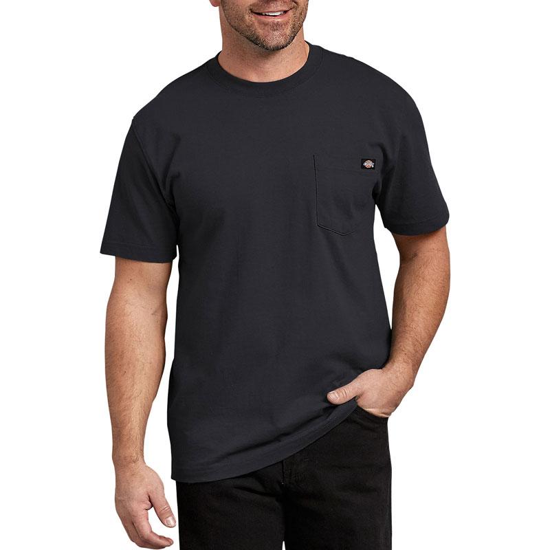【DICKIES】WS450 重磅 素面 口袋 短T (黑色BK)