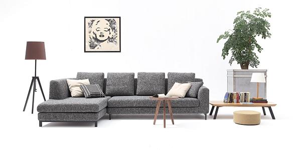【南洋風休閒傢俱】沙發系列-沛瑞斯L型布沙發 時尚簡約日式沙發 JX426-1-2