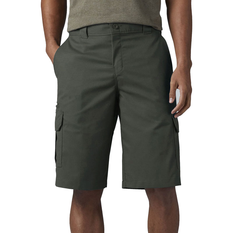 "【DICKIES】WR557 13"" Relaxed Fit Cargo Shorts FLEX 工作短褲 (OG 橄欖綠)"