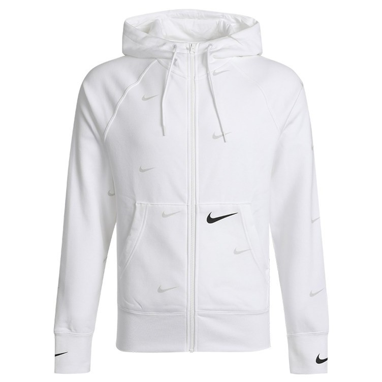 Nike Sportswear Swoosh 男款 白色 滿版 勾勾 運動 休閒 連帽外套 da0083-100