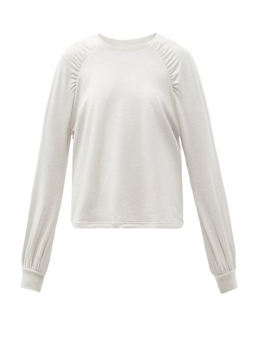 The Upside - Marion Raglan-sleeve Jersey Sweatshirt - Womens - White