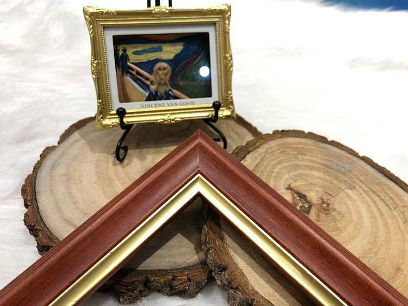 【594紅松木相框】A3尺寸客製化訂製