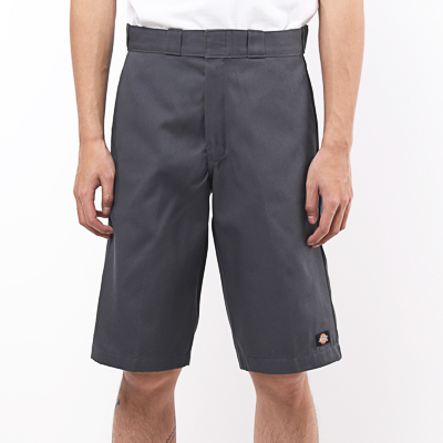 【DICKIES 】WR640 13吋 中腰直筒斜紋布 工作短褲 (CH鐵灰)