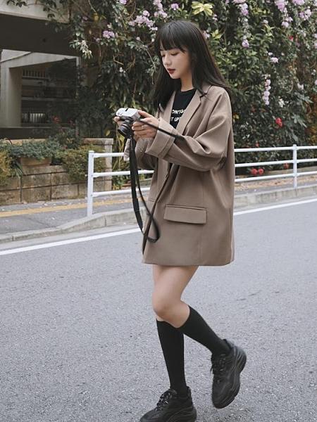 西裝 外套女2021春秋新款韓版寬松chic網紅復古韓國西服上衣【牛年大吉】
