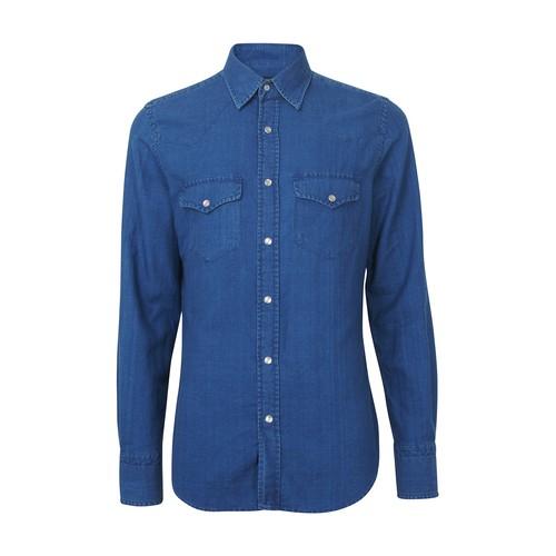 Light denim western shirt