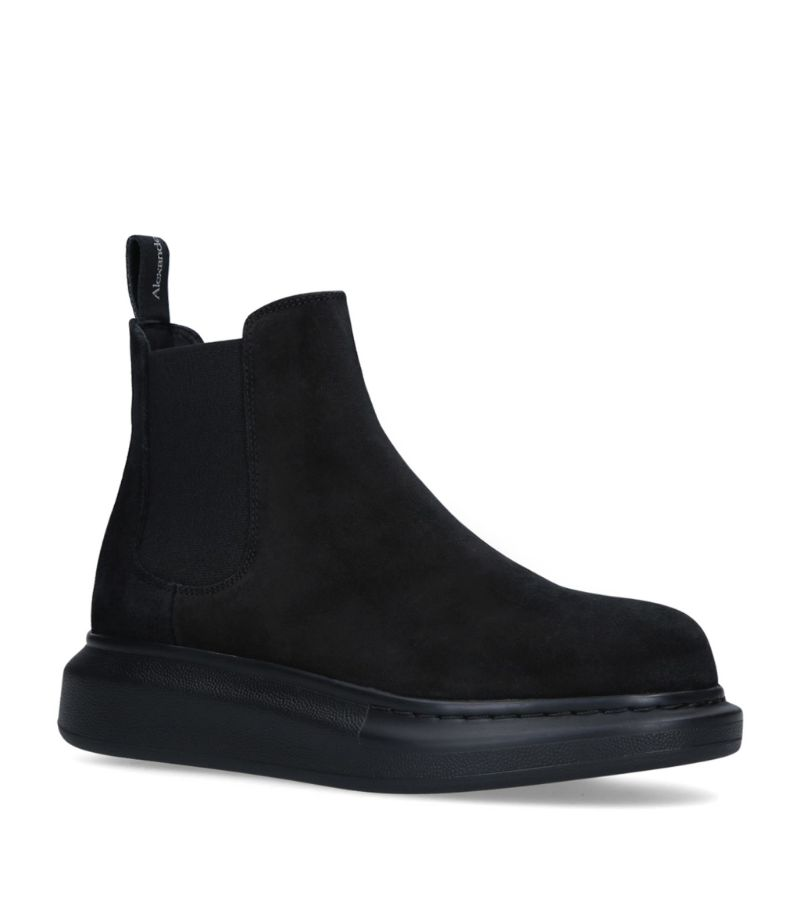 Alexander Mcqueen Suede Chelsea Hybrid Ankle Boots