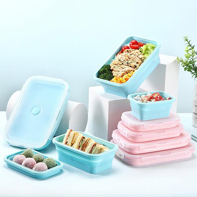 折疊保鮮餐盒微波爐餐盒 (800ml)m0927alex shop