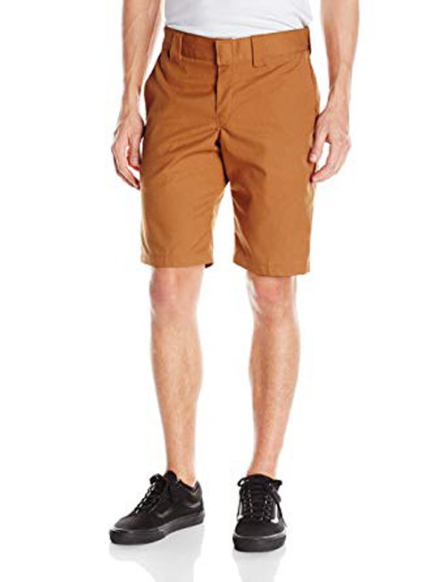 【DICKIES】WR849 Slim Fit 中低腰小直筒斜紋布 工作短褲 (BD駝色)