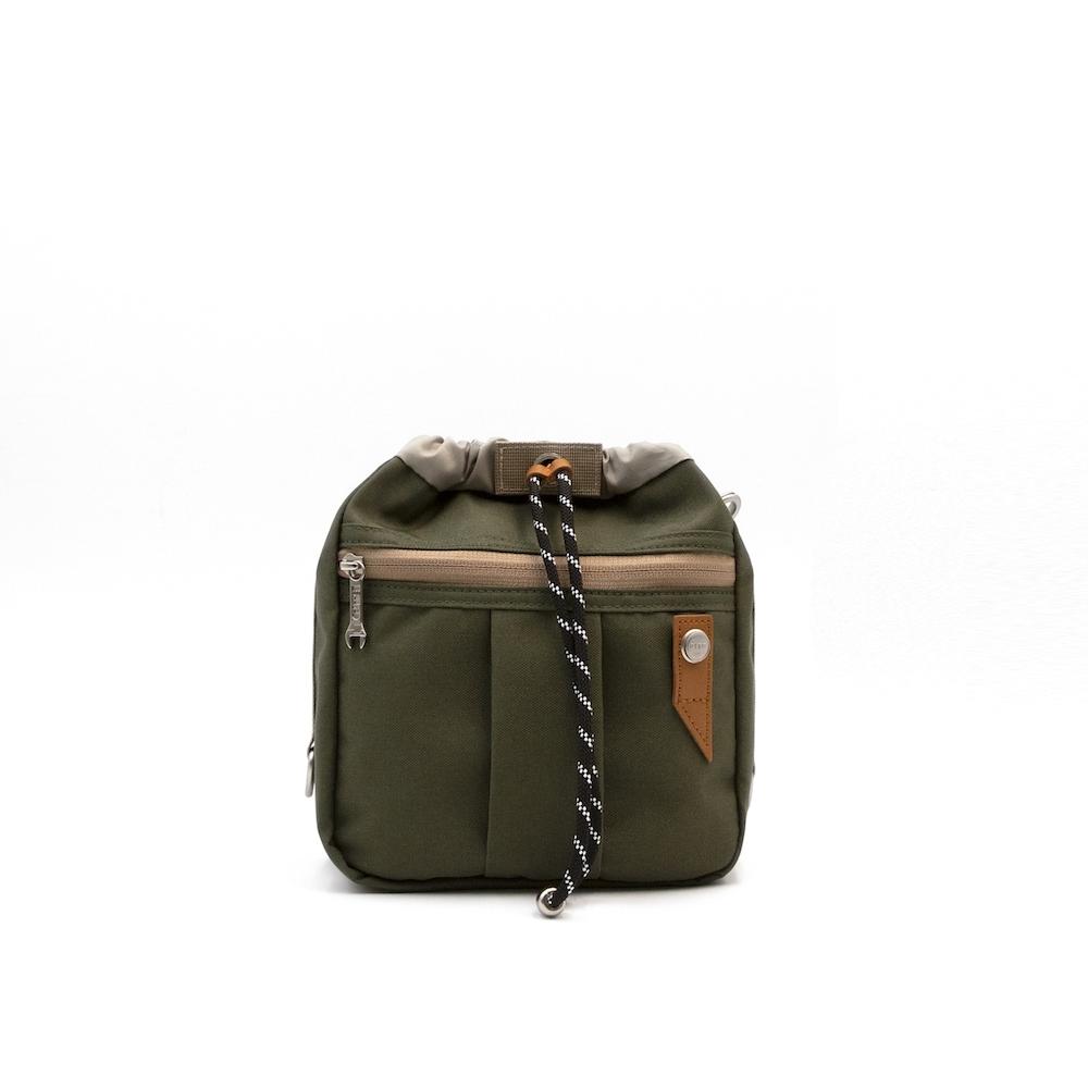 【限時九折】RITE環保紗系列 EV01魚缸包-M 軍綠