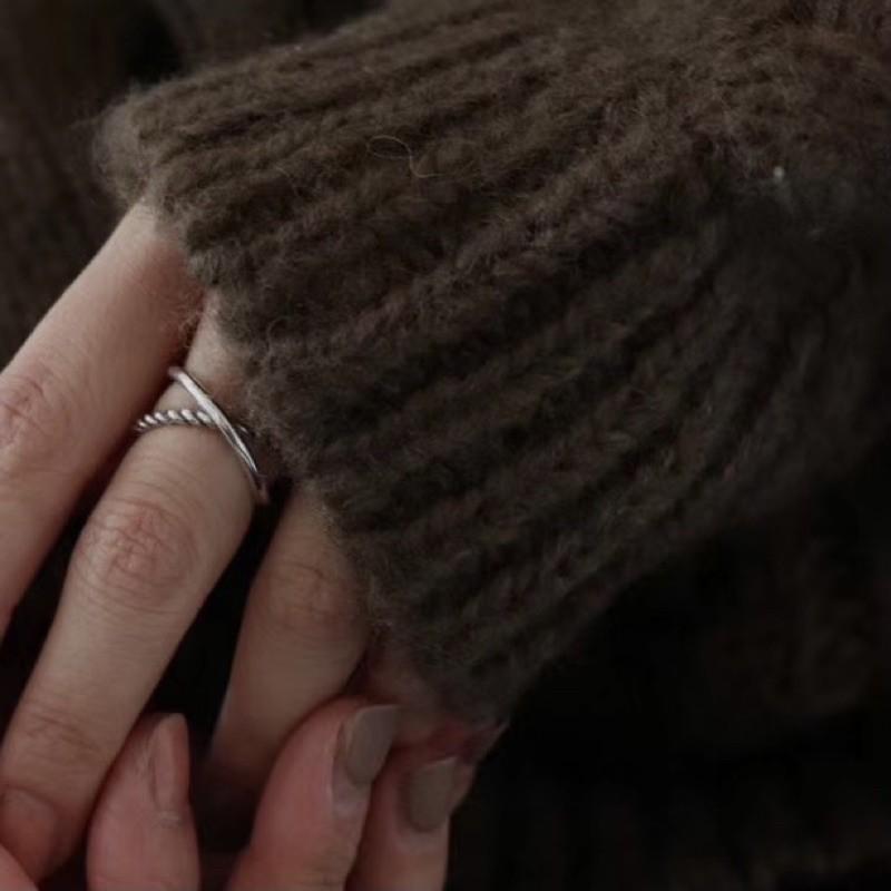 【FLING 銀飾】純銀戒指.雙環|FLING Accessory