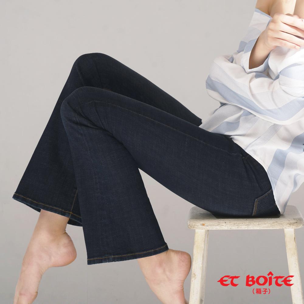 【3件8折】繩股帶花高腰靴型褲 - BLUE WAY ET BOITE箱子