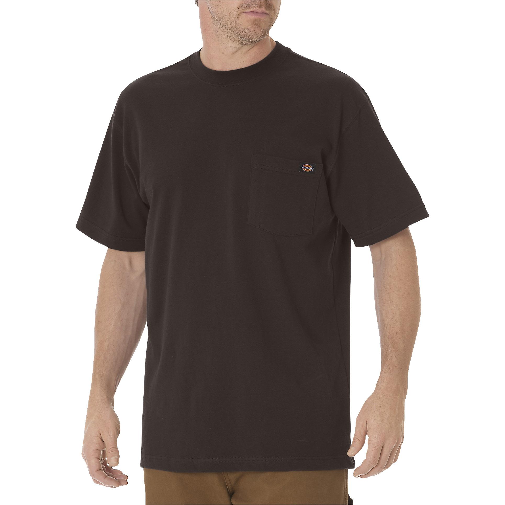 【DICKIES】WS450 重磅 素面 口袋 短T (深咖啡CB)