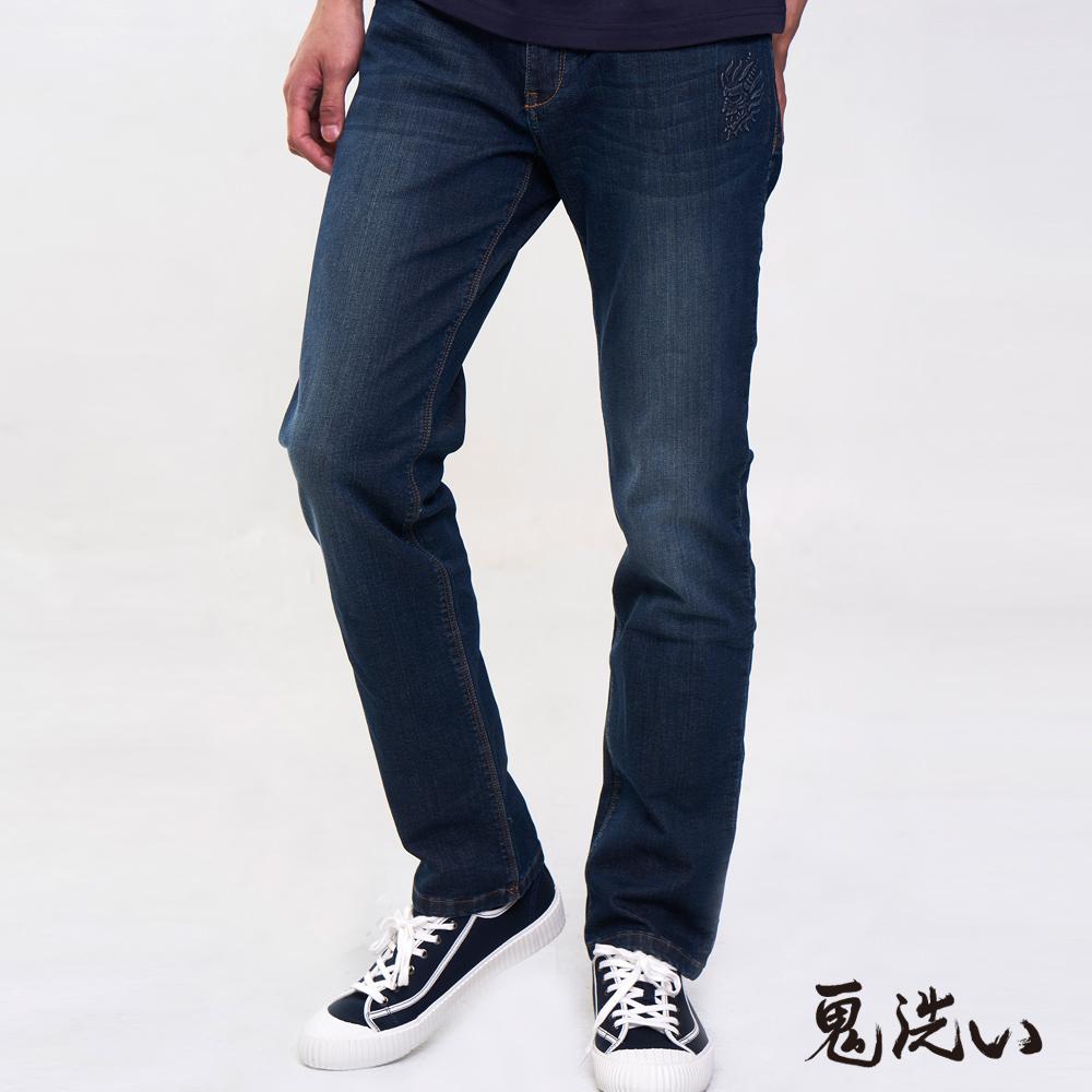 【3件8折】鬼洗運動丹寧小直筒褲 - BLUE WAY 鬼洗い