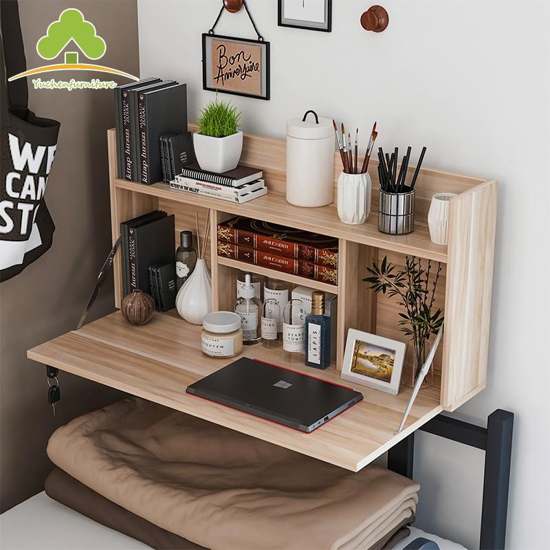 新品上市 大學生電腦桌 簡約風 摺叠 易打理 大學生宿舍神器床上書桌上鋪懸空寢室懶人桌下鋪電腦桌可折疊