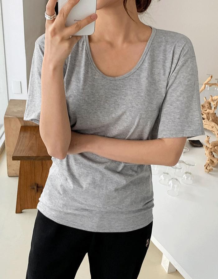 韓國空運 - 短袖透膚基礎款T恤 短袖上衣
