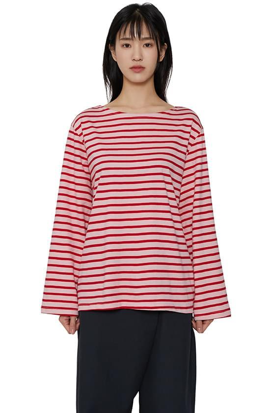韓國空運 - Single Striped long sleeve T-shirt 長袖上衣