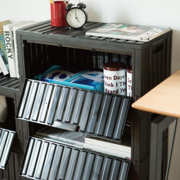 完美主義│ 6432S下掀式側開貨櫃椅 可堆疊收納 抽屜收納櫃 貨櫃椅 書櫃儲物櫃【R0176】