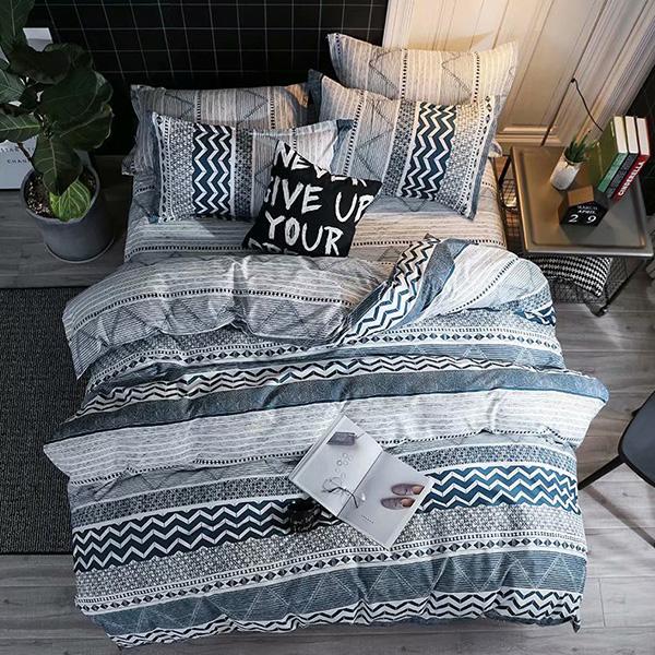 床包被套組(薄被套)-雙人加大 / 舒柔棉四件式 / 波西米亞