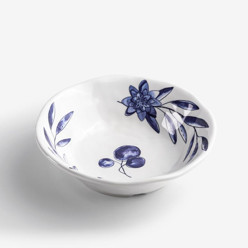 WAGA 典雅青瓷 18cm 合成樹脂圓碗│三葉│單品