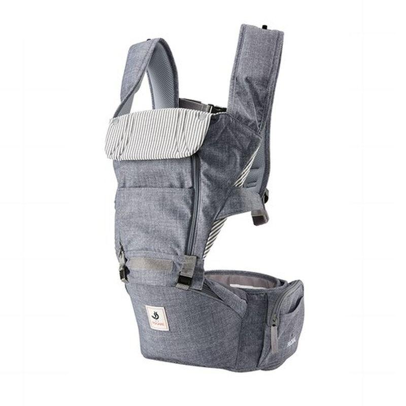 Pognae ALL NEW NO.5 升級版機能型坐墊背巾-復刻牛仔灰★愛兒麗婦幼用品★