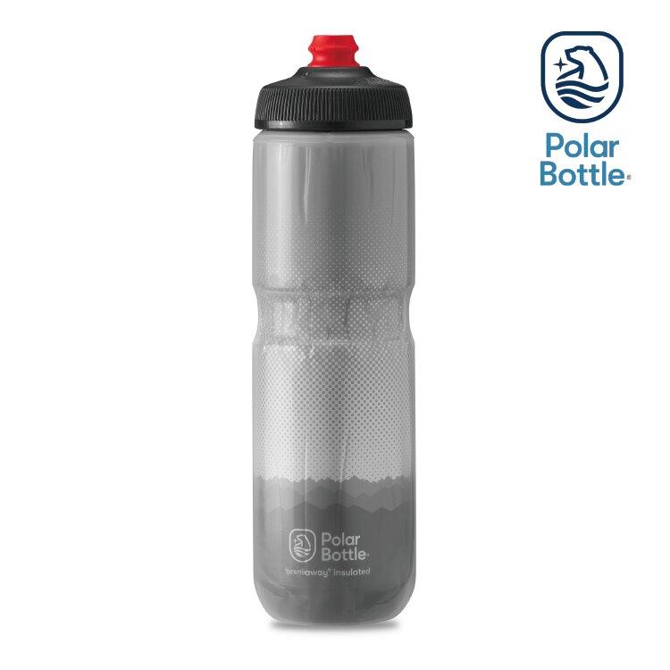 【領券滿$1500折150】Polar Bottle 24oz 雙層保冷噴射水壺 Ridge 灰-銀 / 自行車 水壺 單車 保冷 噴射水壺
