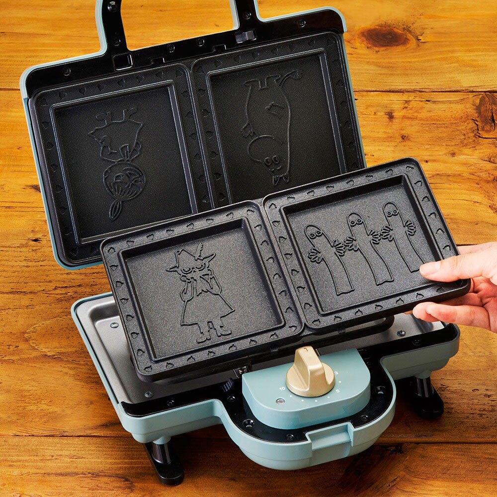 【送料理剪三件組】BRUNO  Moomin 熱壓三明治鬆餅機 BOE051-BGR