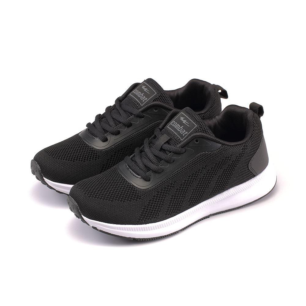 COMBAT艾樂跑女鞋-飛織運動鞋-黑(22569)