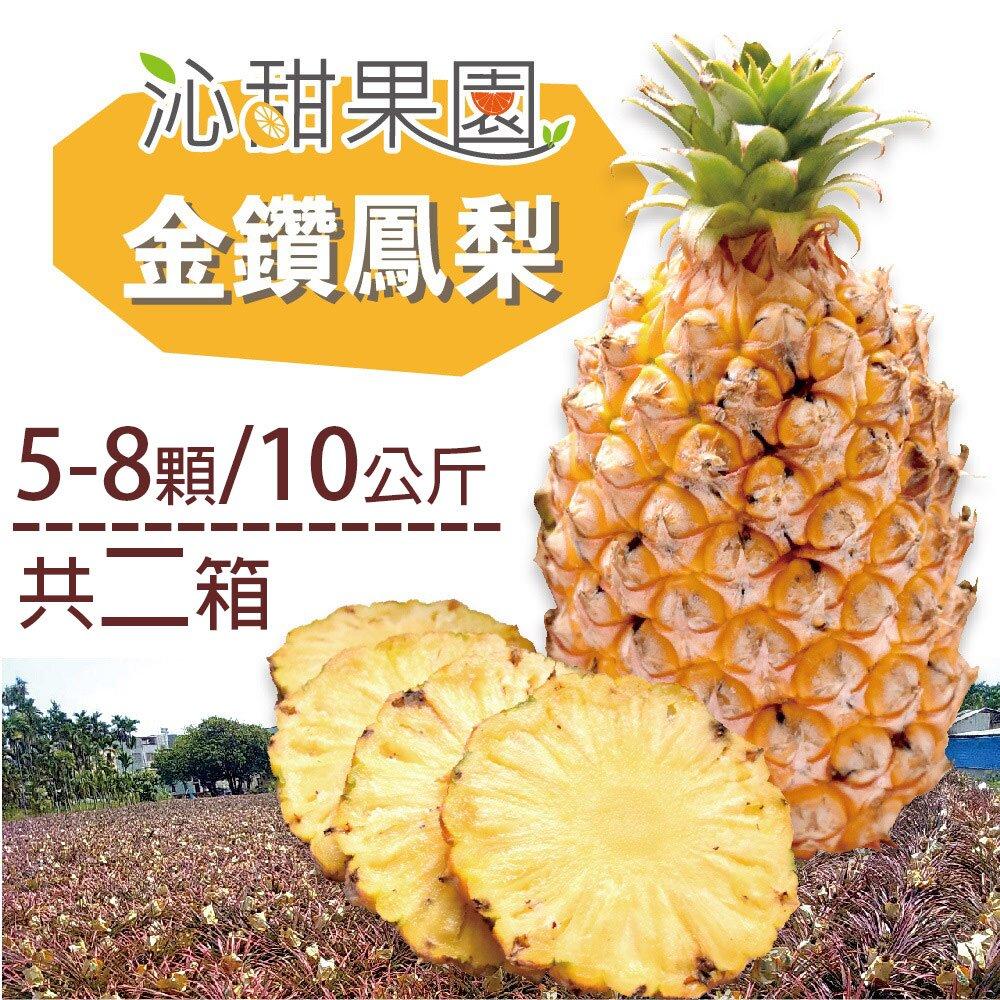 《沁甜果園SSN》金鑽鳳梨(5-8顆/10公斤,共二箱)