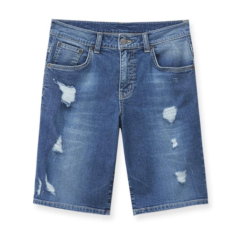 五分短褲(石洗藍)-男