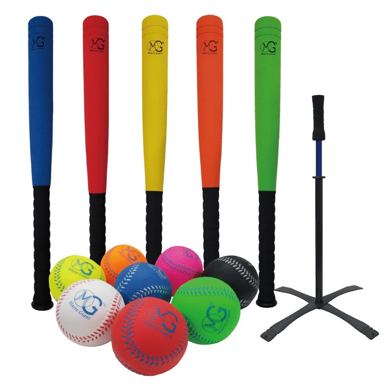 MACRO GIANT 24吋短棒+8顆7cm棒球組(泡殼)