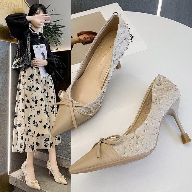FOFU-氣質優雅淑女風時尚皺褶細跟高跟高跟鞋【02S13493】