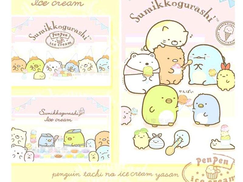 [COSCO代購] W131031 100%純棉雙人兩用床包被套4件組 - 角落小夥伴 最愛冰淇淋