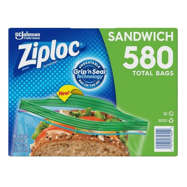 Ziploc 可封式三明治保鮮袋 580入