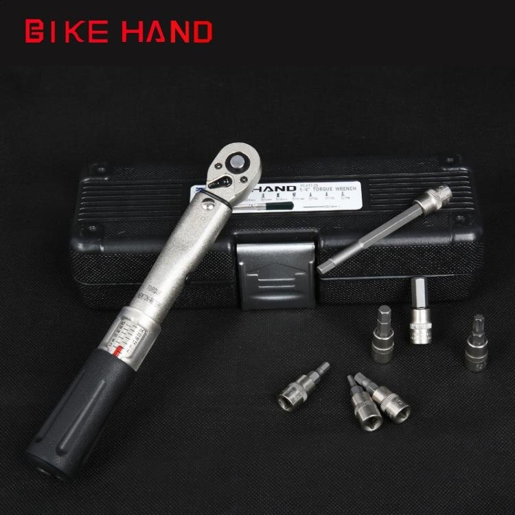 Bikehand自行車修車工具碳纖公路山地車內六角梅花預置式扭力扳手