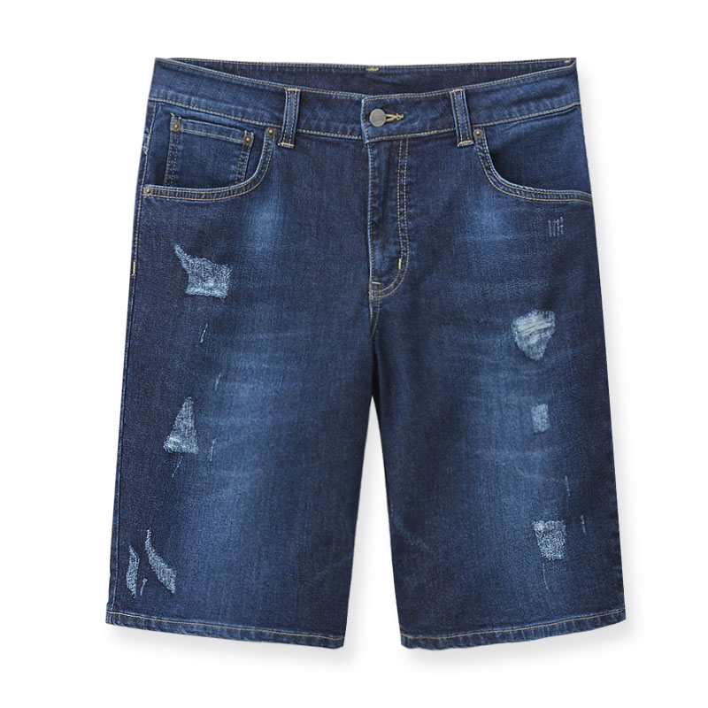 五分短褲(中古藍)-男