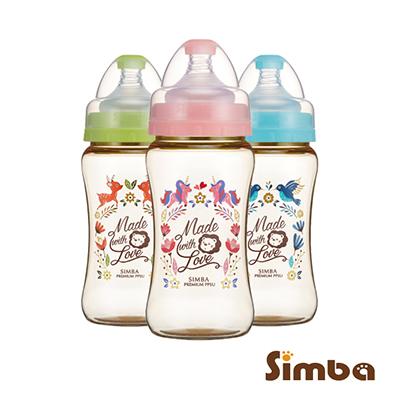 小獅王辛巴 桃樂絲PPSU寬口雙凹中奶瓶3支組(270ml)
