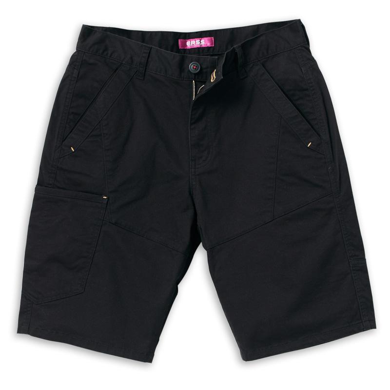 刺繡休閒短褲(黑)-男