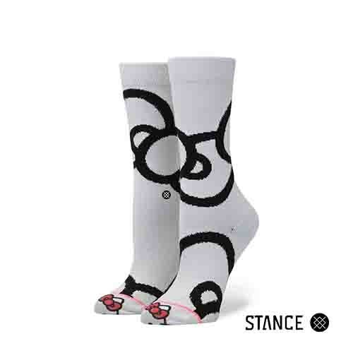 【STANCE】Bows Crew Socks HELLO KITTY 女款 中筒襪 / 小腿襪 W525B17BOW-WHT