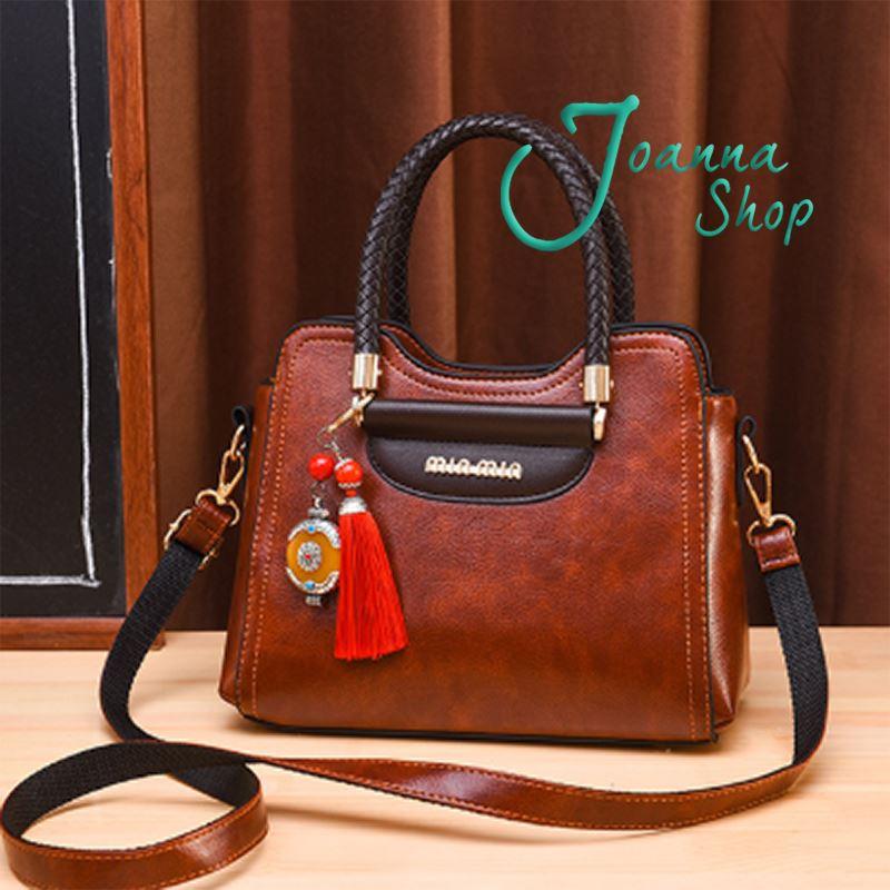 新款歐美潮高質感流復古個性手提簡約斜背包-1Joanna Shop