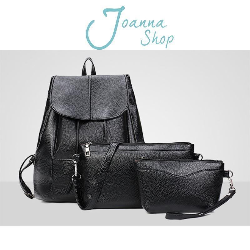 子母包 尤達軟皮純色仔母後背包1-Joanna Shop