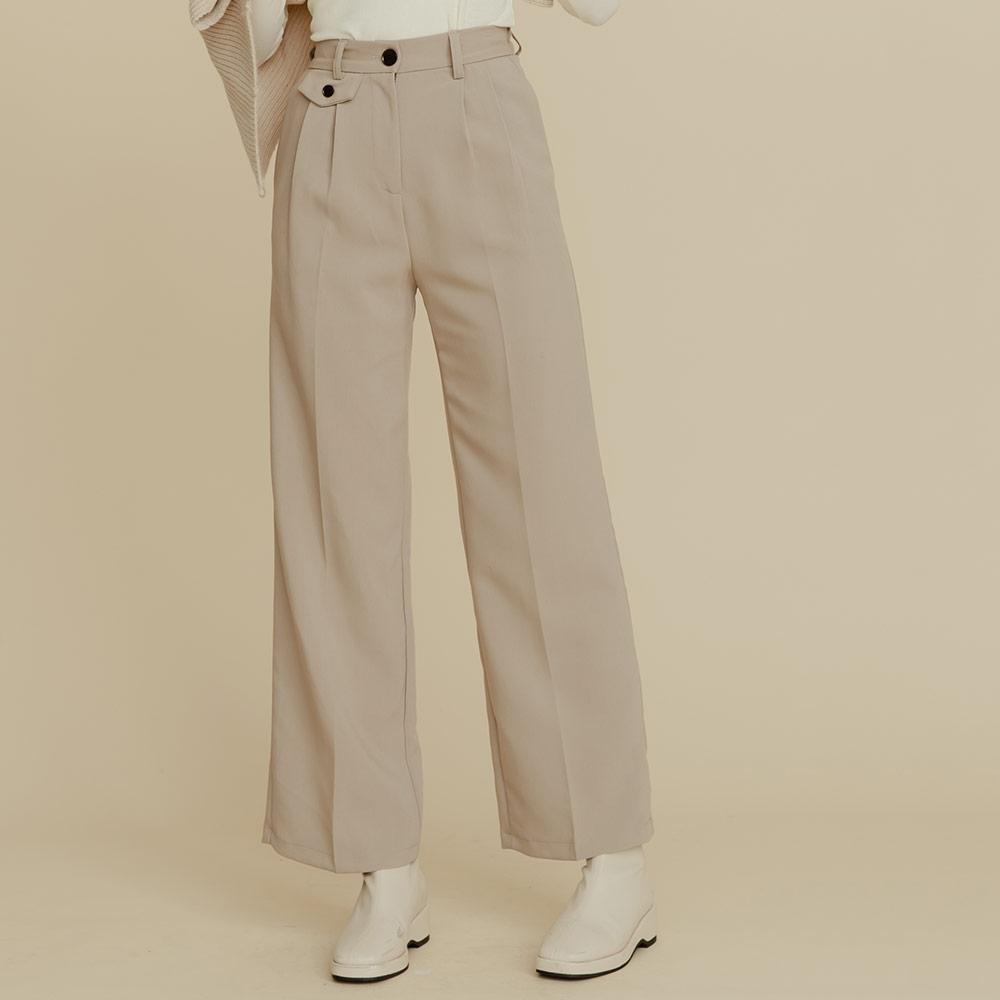 The Madre 顯瘦單邊口袋造型西裝褲 【兩色】