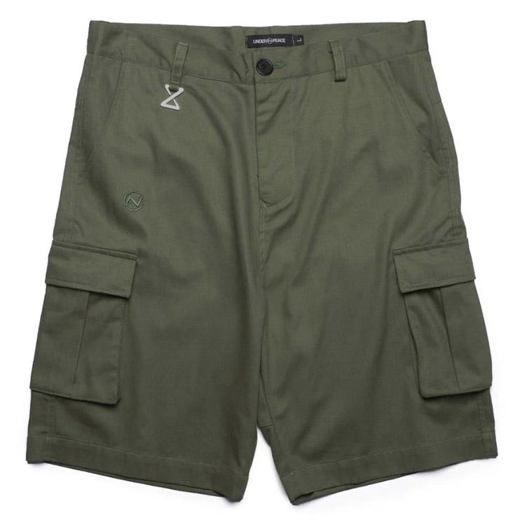 UNDER PEACE - 20SS BASIC / CARGO SHORT PANTS 極簡系列 口袋短褲 (軍綠)